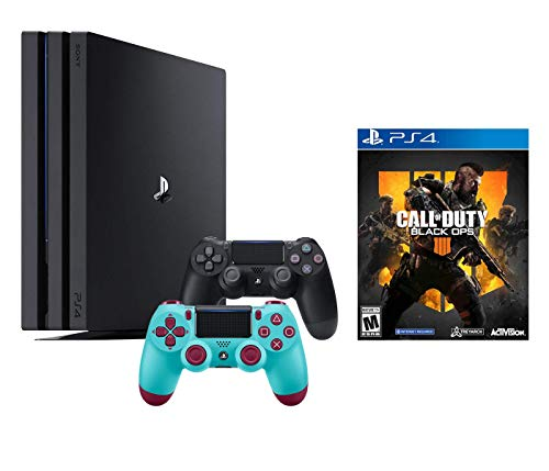 PlayStation 4 Call of Duty Black Ops IIII and 4K HDR PlayStation 4 Pro 1 TB Console with Extra Berry Blue Dualshock 4 Wireless Controller (Split-Screen Play Available)