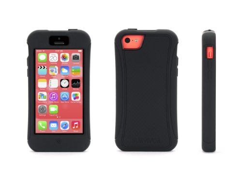 Griffin Black Protective Survivor Slim Case for iPhone 5c
