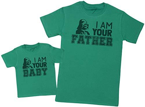 I Am Your Baby I Am Your Father – Maak een set – Gecoördineerde cadeauset voor vader en baby – Heren-T-shirt en baby-T…