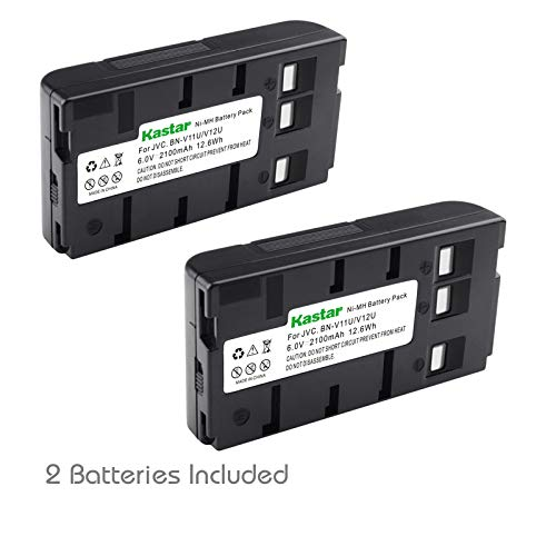 Kastar 2 Pack Ni-MH Battery Compatible with JVC BN-V11U BN-V12U BN-V14U BN-V22U BN-V25U Panasonic HHR-V20A/1B HHR-V40A/1B PV-BP15 PV-BP17 VW-VBS1 VW-VBS2 AKKUVZ8240