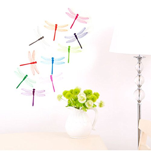 LUNIWEI 10pcs Decal Wall Stickers Home Decorations 3D Dragonfly by LUNIWEI (Image #3)