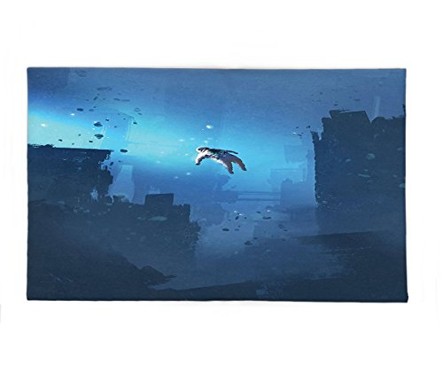 Lost In Space Robot Costume (Interestlee Fleece Throw Blanket Fantasy Art House Decor Astronaut Hovering in the Abandoned City Mysterious Space Lost in Galaxy Blue)