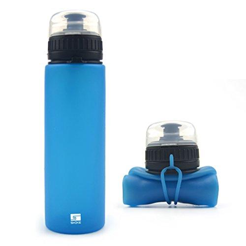 SHOKE Sports Collapsible Water Bottle, Portable Flexible BPA Free, 19oz or 25oz