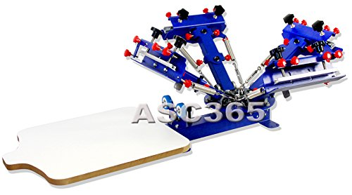 4 Color 1 Station Silk Screen Printing Press Fine Tuning T-shirt Micro-registration Screen Printer by Screen Printing Equipment