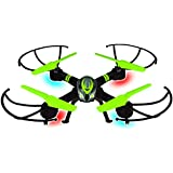 2.4 GHz Green Drone with 360° Stunt-Flip Action, LED Lights, 6-axis Gyro & Headless Mode