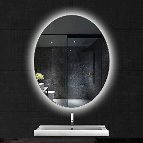 600x800mm Oval Illuminated Bathroom Mirror with Led Light Backlight Anti-Fog Wall Mounted -