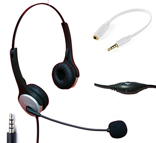 Voistek Wired Cell Phone Headset with Noise Canceling Boom M