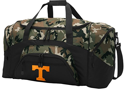 Large Tennessee Vols Duffel Bag CAMO University of Tennessee Gym Bags Luggage by Broad Bay