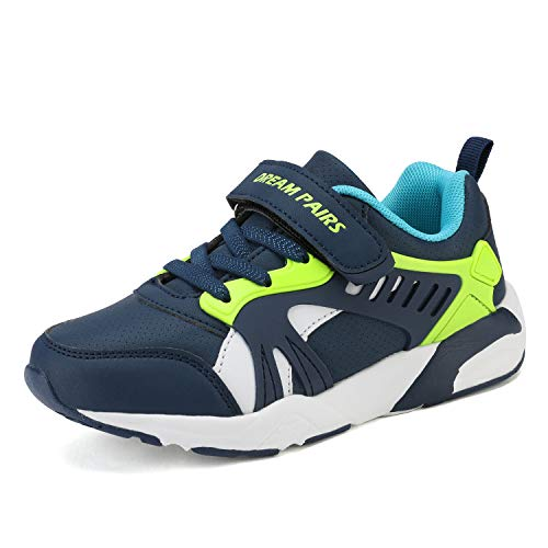 DREAM PAIRS Boys Athletic Sports Sneakers Tennis Running Shoes Royal Blue Neon Size 1 Little Kid Zp19003k
