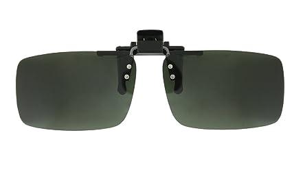 2pc Sunglasses Polarized Clip On Flip-up Driving Glasses Night Vision Lens UV400