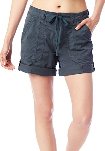Supplies by Unionbay Womens Marty Twill Roll Cuff Shorts 8 Midnght sea Grey