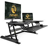 Standing Desk Converter with Height Adjustable – FEZIBO Sit to...