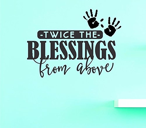 20 Inches X 30 Inches Color Multi 20 x 30 Design with Vinyl US V JER 3746 3 Top Selling Decals Twice The Blessings From Above Wall Art Size