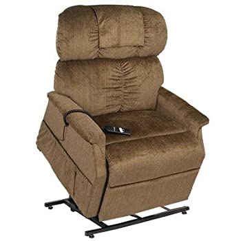 PR-501M-26D Comforter Extra Wide Medium-26 Dual Motor Lift Chair - with Head Pillow Fabric: Admiral