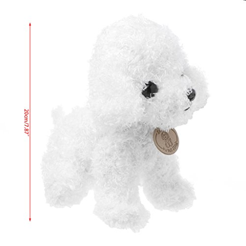 Ronri Poodle Plush Puppies, Stuffed Animals Dogs Plush Toy (White) - White Poodle Puppies