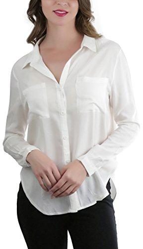 Ivory Blouse Shirt - 8