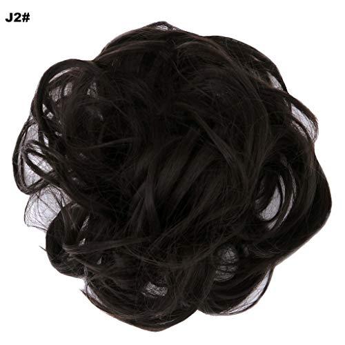 Prettywit Hairpieces Short Curly Hair Extension Messy Hair Bun Updo Hair Chignons Hair Piece Wig Scrunchy Bridal Darkest Brown Near Black J2 Buy Online In Cambodia At Desertcart