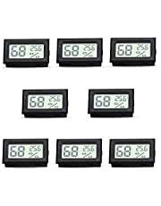 RunSnail Temperature Humidity Meters Mini Indoor Thermometer Hygrometer LCD Display Celsius (°C for Humidors, Greenhouse, Garden, Cellar, Cars, Baby Rooms 8 Pcs