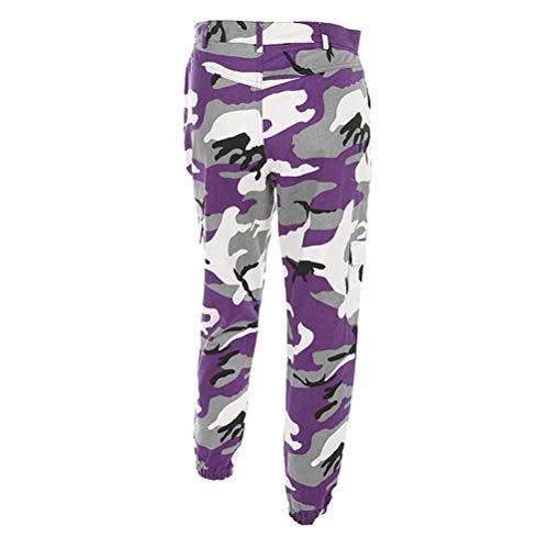 Deportivo Para Exterior Pantalones Harem De Stretch Mujer Lila Deportivos Camuflaje Vaqueros qZH8t