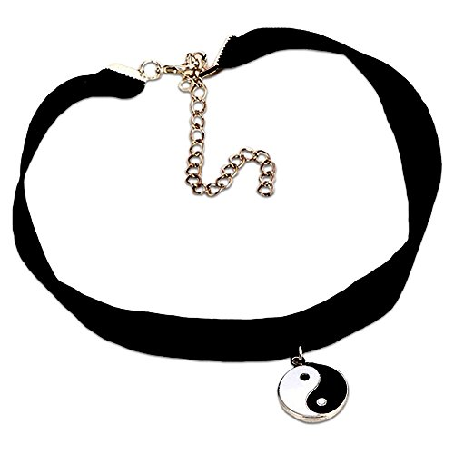 Young & Forever Women's Valentine You-Cool Collection Magical Yin Yang Amulet Spread Bib Necklace by Young & Forever