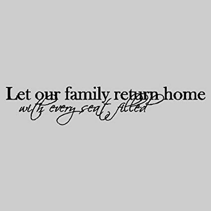 amazon com let our family return home family wall quotes words