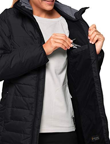 Jack Wolfskin Damen Maryland Coat Steppmantel Winddicht Wasserabweisend Atmungsaktiv Mantel, schwarz, XXL 5