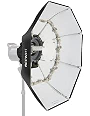 Neewer Folding Beauty Dish Octagonal Softbox 40 inches/100 centimeters, with Center Deflector Disc,Removable Diffuser and Bowens Speed Ring for Monolight Studio Flash in Portrait and Event Photography