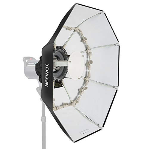 Neewer Folding Beauty Dish Octagonal Softbox 34 inches/85 centimeters, with Center Deflector Disc, Removable Diffuser and Bowens Speed Ring for Monolight Studio Flash in Portrait and Event Photography by Neewer