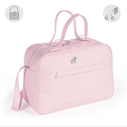 Pasito A Pasito  - Bolsa canastilla  elodie polipiel rosa