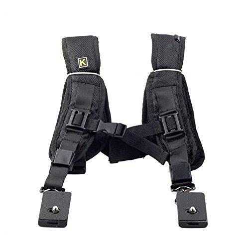 - Aenmil Dual-shoulder Camera Neck Strap Multi Cameras Carrier Harness Holster System for 2 Canon Nikon Sony SLR Digital SLR Cameras With Adjustable Strap