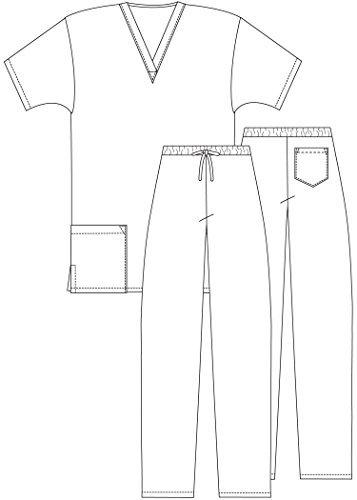 ADAR UNIFORMS Adar Mens Medical Scrubs Set Medical Uniforms - Roomy Fit - 701 - NVY -XL by ADAR UNIFORMS (Image #3)