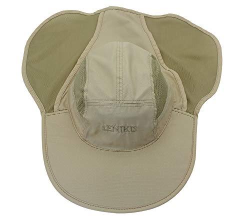 c55ca7879397e9 Lenikis Unisex Outdoor Activities UV Protecting Sun Hats with Neck Flap  Khaki