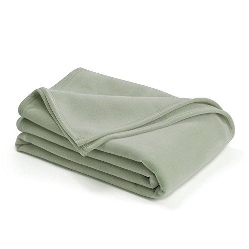 - The Original Vellux Blanket - Full/Queen, Soft, Warm, Insulated, Pet-Friendly, Home Bed & Sofa - Moss