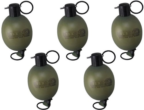 Empire Paintball Empire BT M8 PULL PIN Paint Grenade, (Green/Yellow) - 5 Pack