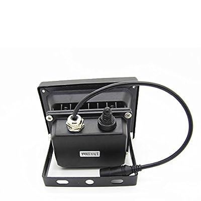 Warm White : Waterproof 10W Solar powered LED SpotLight Flood light with 5M wire 2200mA battery 12 LED Sensor Solar Light Garden Camp Lamps