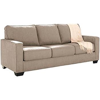 Ashley Furniture Signature Design   Zeb Sleeper Sofa   Contemporary Style  Couch   Queen Size   Quartz