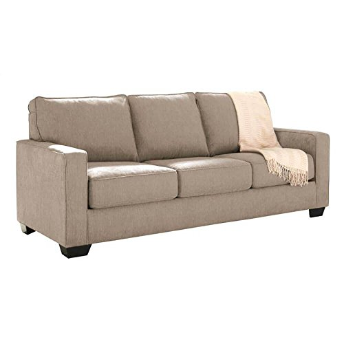 Ashley Furniture Signature Design –Zeb Sleeper Sofa – Contemporary Style Couch – Queen Size – Quartz