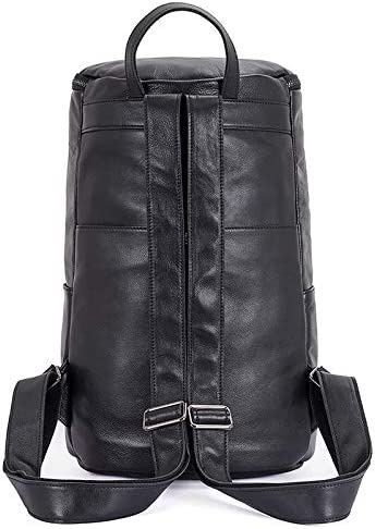 YIBANG-Bag Mens Backpacks Fashion Casual Drums Travel Shoulder Bags Mens Fashion Color : Black, Size : L
