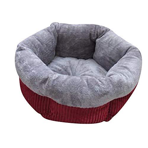 Firlar Pet Sofa Bed, Winter Warm Soft Round Dog Bed Soft Kitten Puppy House Pets Mat Sofa Dog,Cat Small Animals Size 23x45cm (Grey)
