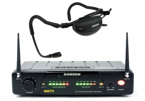Samson AirLine 77 Headset True Diversity UHF Wireless System with Fitness Microphone (Channel N3) by Samson Technologies