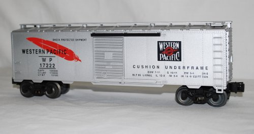 Lionel 6-17222 WP Western Pacific Boxcar Standard O 1/48 Silver with (Lionel Standard Gauge)