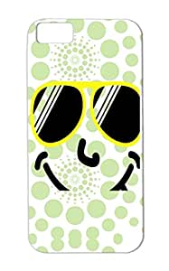 Mouth Miscellaneous Tongue Crazy Smily Comic Eyes Happy Smiley Funny Smile Yellow Case For Iphone 5c Shades Cool F2