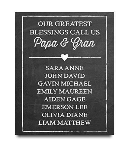 Personalized Grandparent Paper Art Print | Grandparent Gift | Grandma Gift | Grandpa Gift | Grandparent Poster | Grandparent Art | Grandparent Christmas Gift | Personalized Grandparent Gift (Gifts Grandparent Personalized)
