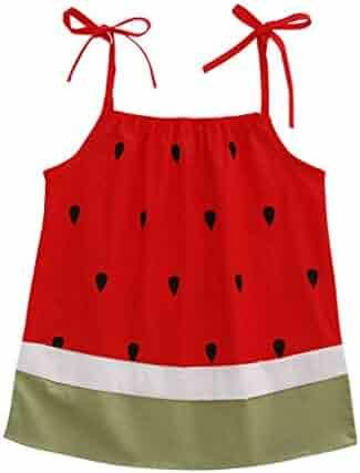 91f03644972 Newborn Infant Baby Girls Dresses Cuekondy Plum Flower Watermelon Cartoon  Print Bowknot Party Princess Sundress Skirt