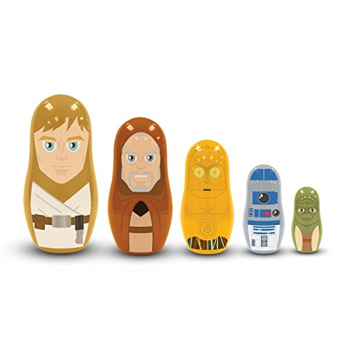 PPW Star Wars Nesting Dolls Jedi and Droids Toy by PPW