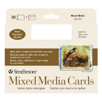 3 Pack Mixed Media Full Size Cards (Product Catalog: Paper Media, Canvas & Surfaces)