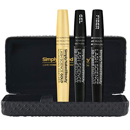 3D Fiber Lash Mascara with 100% USDA Certified Organic Castor Oil Growth Enhancing Serum by Simply Naked Beauty. Lash Growth and Mascara In One. Hypoallergenic ingredients. Waterproof, smudge proof & voluminous.