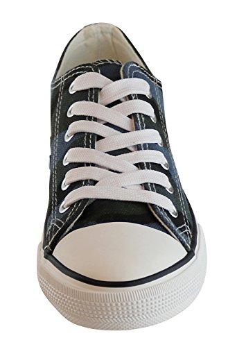 Camo S 3 Fashion Low Sneaker Blue Women's Canvas Top Classic q8vCq