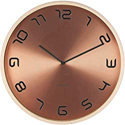 Karlsson BENT WOOD COPPER PLATED 13.8″ WALL CLOCK