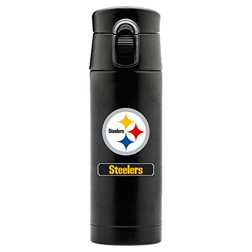 PITTSBURGH STEELERS DOUBLEWALL STAINLESS STEEL THERMOS - LARGE